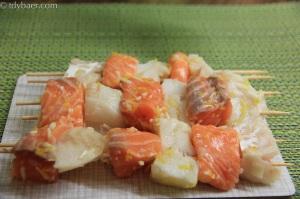 Fisch-Duett mit Rahmwirsing und Reis