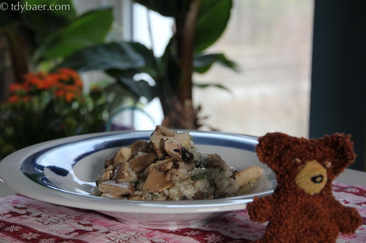 Pilz-Risotto mit Salbei