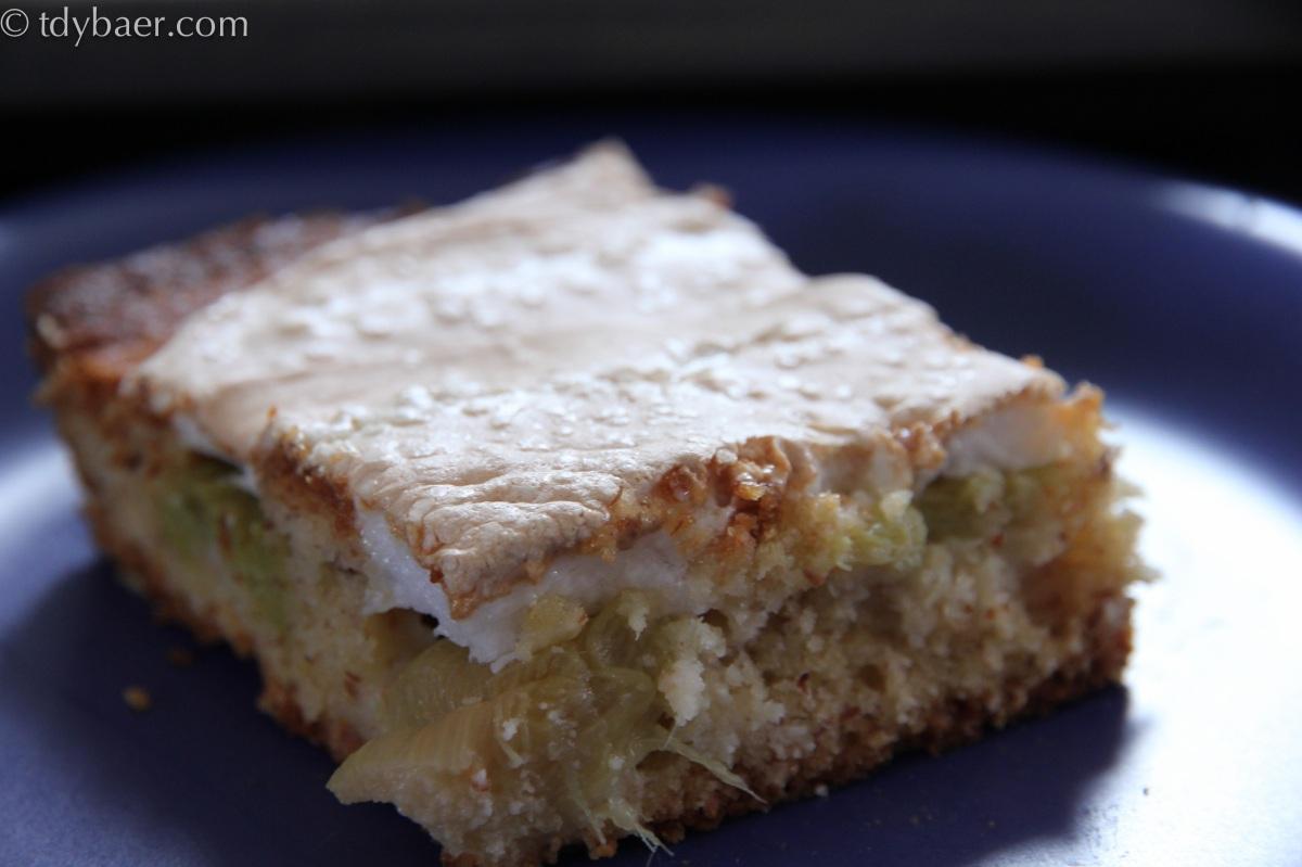 Rhabarber-Baiser-Kuchen